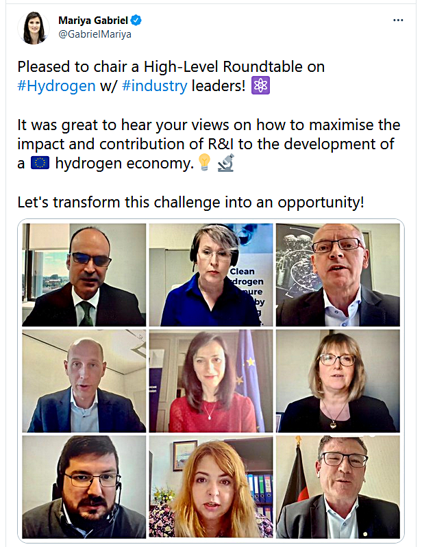Hycamite CEO Laura Rahikka invited to join the CEO Roundtable on Hydrogen established by Mariya Gabriel, the EU Commissioner