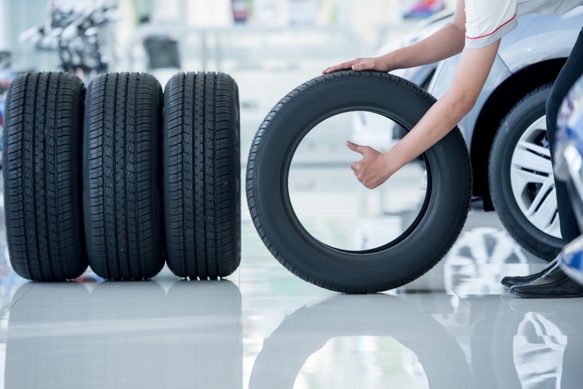 Carbon black is commonly used in tires.